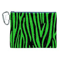 Skin4 Black Marble & Green Colored Pencil (r) Canvas Cosmetic Bag (xxl)