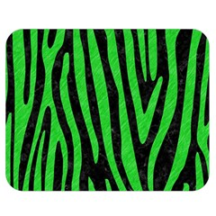 Skin4 Black Marble & Green Colored Pencil (r) Double Sided Flano Blanket (medium)
