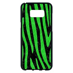 Skin4 Black Marble & Green Colored Pencil (r) Samsung Galaxy S8 Plus Black Seamless Case