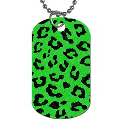 Skin5 Black Marble & Green Colored Pencil Dog Tag (one Side)