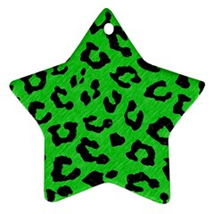 Skin5 Black Marble & Green Colored Pencil Star Ornament (two Sides)