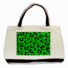 Skin5 Black Marble & Green Colored Pencil Basic Tote Bag (two Sides)