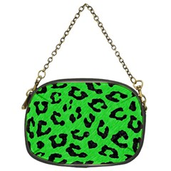 Skin5 Black Marble & Green Colored Pencil Chain Purses (one Side)