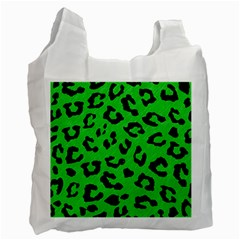 Skin5 Black Marble & Green Colored Pencil Recycle Bag (two Side)