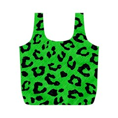Skin5 Black Marble & Green Colored Pencil Full Print Recycle Bags (m)