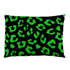 Skin5 Black Marble & Green Colored Pencil (r) Pillow Case