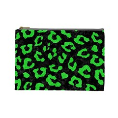 Skin5 Black Marble & Green Colored Pencil (r) Cosmetic Bag (large)