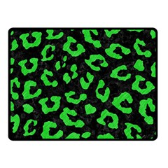 Skin5 Black Marble & Green Colored Pencil (r) Double Sided Fleece Blanket (small)