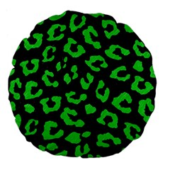 Skin5 Black Marble & Green Colored Pencil (r) Large 18  Premium Flano Round Cushions