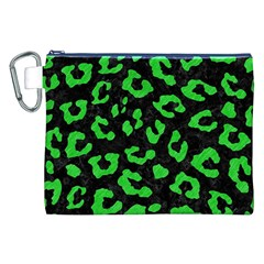 Skin5 Black Marble & Green Colored Pencil (r) Canvas Cosmetic Bag (xxl)