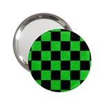 SQUARE1 BLACK MARBLE & GREEN COLORED PENCIL 2.25  Handbag Mirrors Front