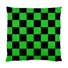 Square1 Black Marble & Green Colored Pencil Standard Cushion Case (one Side)