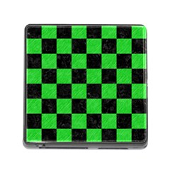 Square1 Black Marble & Green Colored Pencil Memory Card Reader (square)