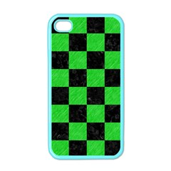 Square1 Black Marble & Green Colored Pencil Apple Iphone 4 Case (color)