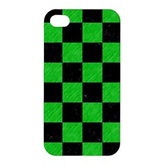 Square1 Black Marble & Green Colored Pencil Apple Iphone 4/4s Hardshell Case