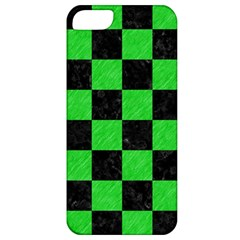Square1 Black Marble & Green Colored Pencil Apple Iphone 5 Classic Hardshell Case