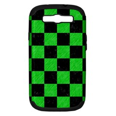 Square1 Black Marble & Green Colored Pencil Samsung Galaxy S Iii Hardshell Case (pc+silicone)