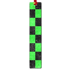 Square1 Black Marble & Green Colored Pencil Large Book Marks