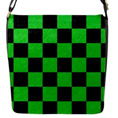Square1 Black Marble & Green Colored Pencil Flap Messenger Bag (s)
