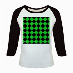 Square2 Black Marble & Green Colored Pencil Kids Baseball Jerseys