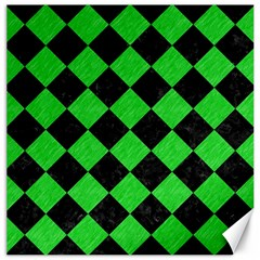 Square2 Black Marble & Green Colored Pencil Canvas 20  X 20