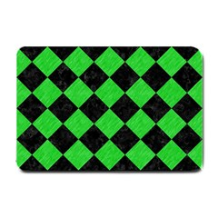 Square2 Black Marble & Green Colored Pencil Small Doormat