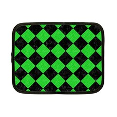 Square2 Black Marble & Green Colored Pencil Netbook Case (small)