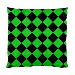 Square2 Black Marble & Green Colored Pencil Standard Cushion Case (two Sides)