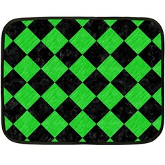 Square2 Black Marble & Green Colored Pencil Double Sided Fleece Blanket (mini)