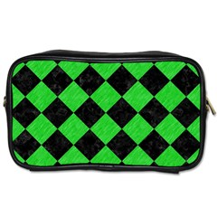 Square2 Black Marble & Green Colored Pencil Toiletries Bags 2 Side