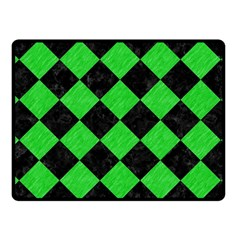 Square2 Black Marble & Green Colored Pencil Fleece Blanket (small)