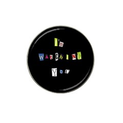 I Am Watching You Hat Clip Ball Marker (4 Pack)