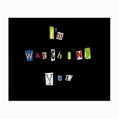 I Am Watching You Small Glasses Cloth (2 Side)