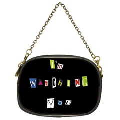 I Am Watching You Chain Purses (one Side)