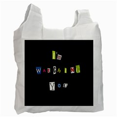 I Am Watching You Recycle Bag (two Side)