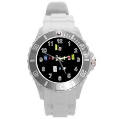 I Am Watching You Round Plastic Sport Watch (l)