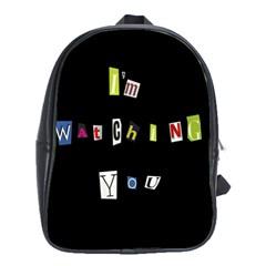 I Am Watching You School Bag (xl)