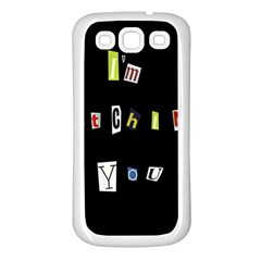 I Am Watching You Samsung Galaxy S3 Back Case (white)