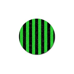 Stripes1 Black Marble & Green Colored Pencil Golf Ball Marker (10 Pack)