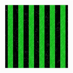 Stripes1 Black Marble & Green Colored Pencil Medium Glasses Cloth (2 Side)