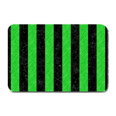 Stripes1 Black Marble & Green Colored Pencil Plate Mats