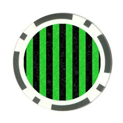 Stripes1 Black Marble & Green Colored Pencil Poker Chip Card Guard (10 Pack)