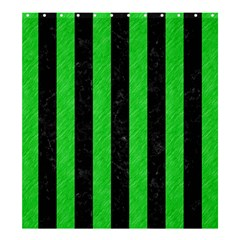 Stripes1 Black Marble & Green Colored Pencil Shower Curtain 66  X 72  (large)