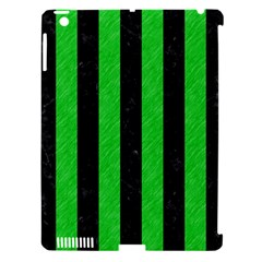 Stripes1 Black Marble & Green Colored Pencil Apple Ipad 3/4 Hardshell Case (compatible With Smart Cover)