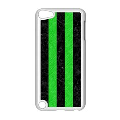 Stripes1 Black Marble & Green Colored Pencil Apple Ipod Touch 5 Case (white)