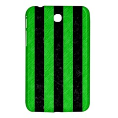Stripes1 Black Marble & Green Colored Pencil Samsung Galaxy Tab 3 (7 ) P3200 Hardshell Case