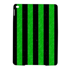 Stripes1 Black Marble & Green Colored Pencil Ipad Air 2 Hardshell Cases