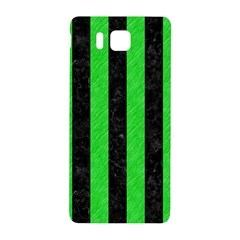Stripes1 Black Marble & Green Colored Pencil Samsung Galaxy Alpha Hardshell Back Case