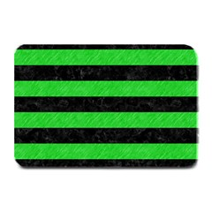 Stripes2 Black Marble & Green Colored Pencil Plate Mats