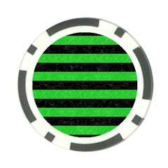 Stripes2 Black Marble & Green Colored Pencil Poker Chip Card Guard (10 Pack)